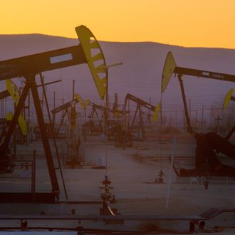 An Exxon Mobile Oil field in Bellridge, California, one of the largest in the US.
