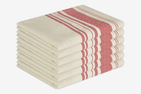GLAMBURG Vintage Stripe Premium Cotton Kitchen Dish Towels