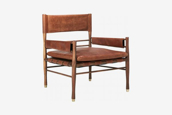 CB2 Nomad Leather Safari Chair