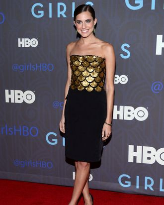 Allison Williams attends the premiere of