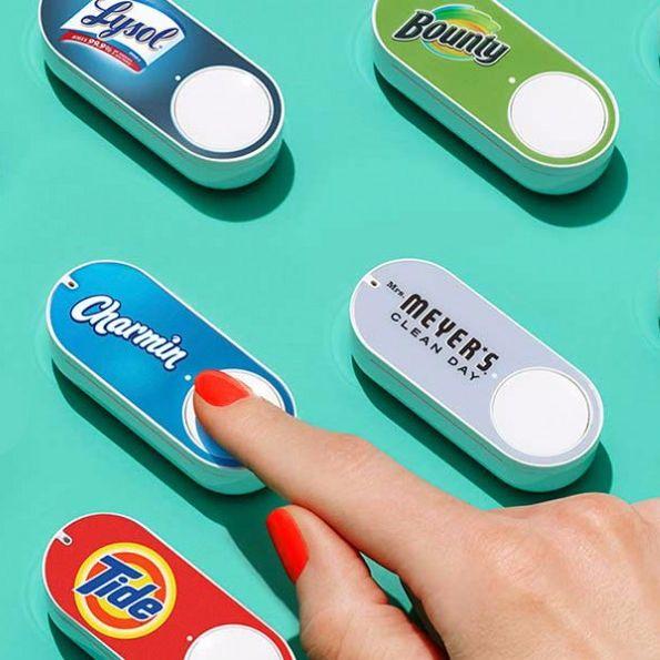 An Amazon dash button.