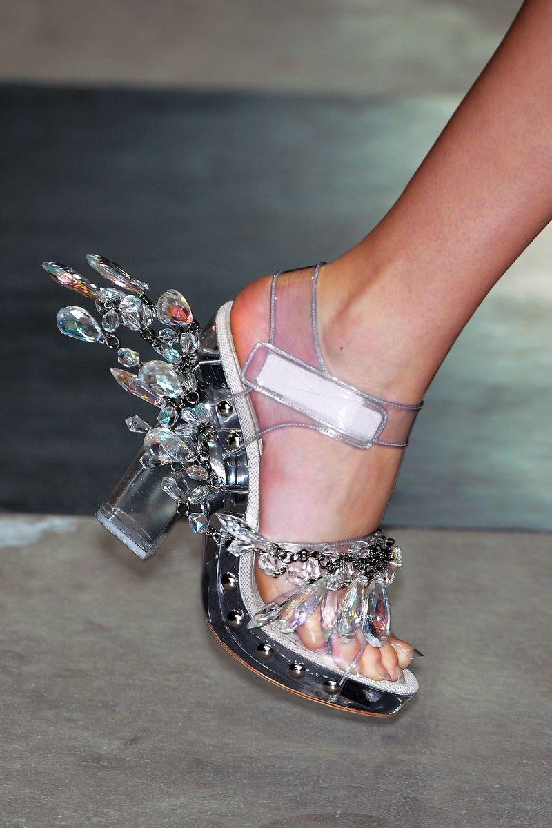 Prada Acrylic And Crystal Sandals S S 2010 50 Ugliest