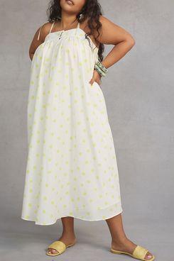 WHIT TWO Polka Dot Maxi Dress