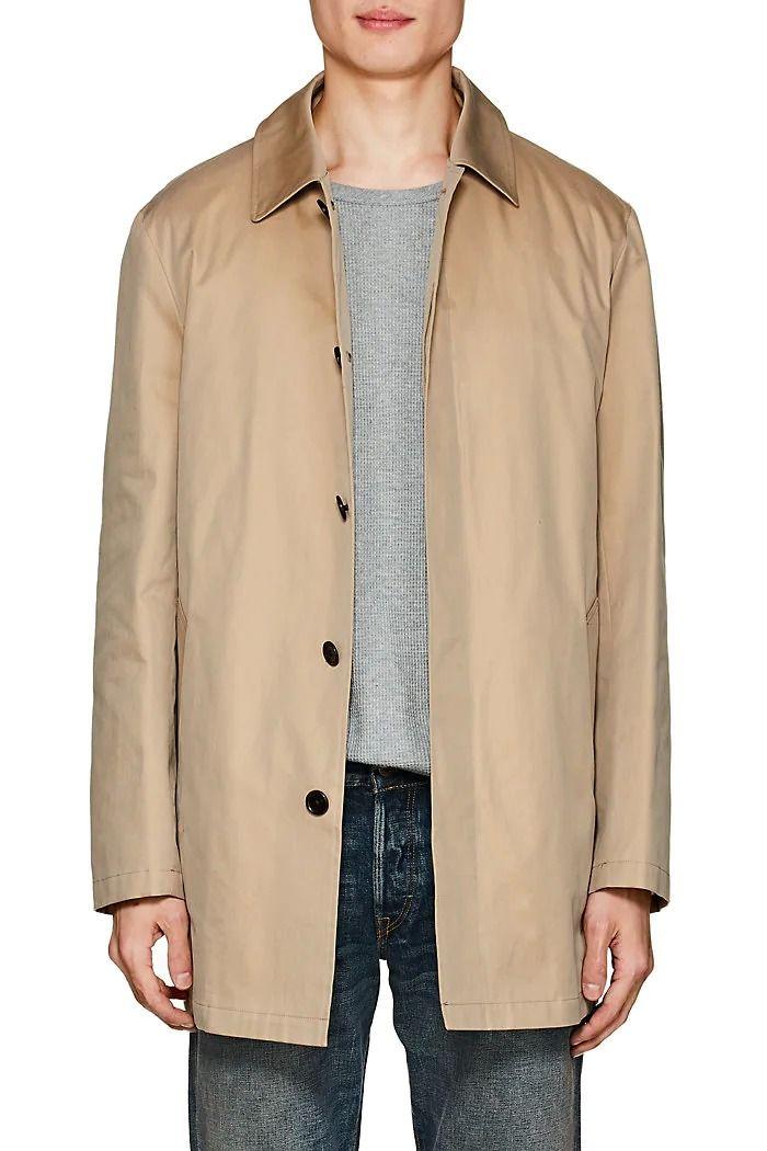 Barneys New York Mens Cotton Trench Coat