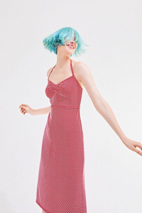 Betsey Johnson UO Exclusive Polka Dot Halter Midi Dress