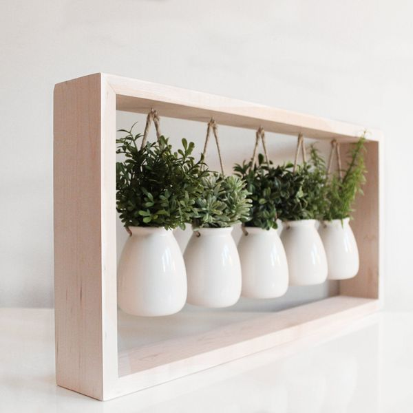 Built With My Bare Hands Indoor Herb Garden in Wooden Frame