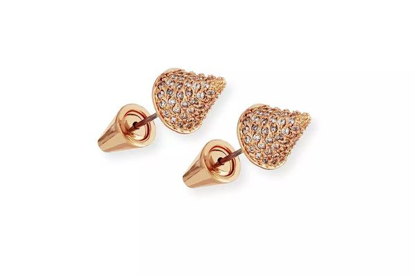 Eddie Borgo Pavé Crystal Cone Stud Earrings