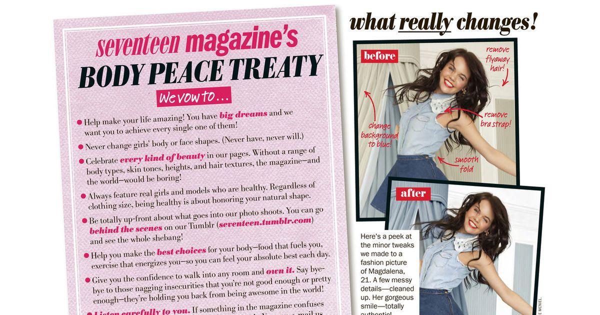 Seventeen Magazine Makes 'Body Peace Treaty'