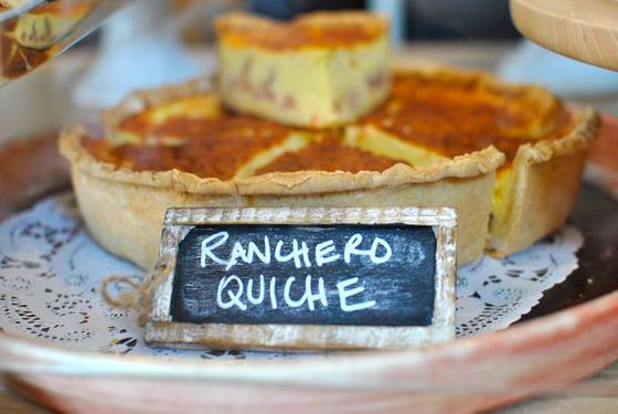 Like huevos rancheros in quiche form, and yes, as awesome as it sounds.