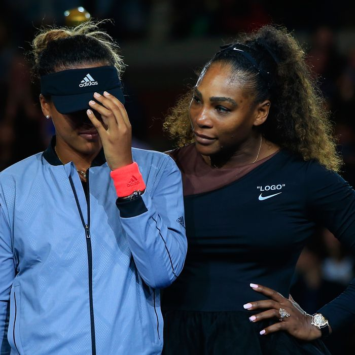 Naomi Osaka and Serena Williams.