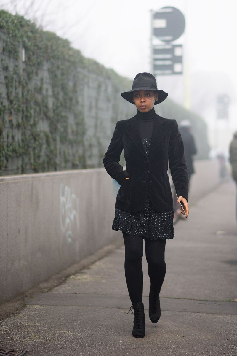 Azza Yousif Street Style Milan Men 39 S Fashion Week The Cut