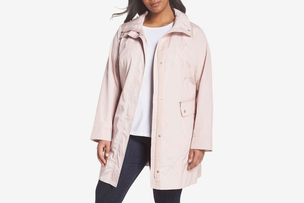 Cole Haan Water Resistant Plus Size Rain Jacket
