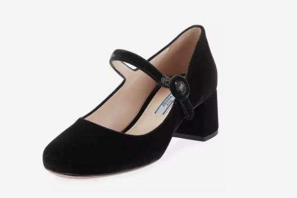 Prada Velvet Mary Jane Pump