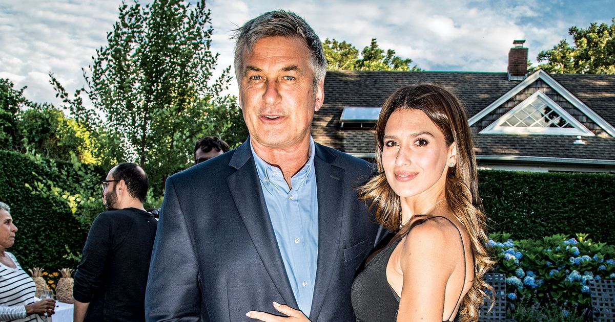 alec baldwin and his wife hilaria  at a party for the Hampton Film Festival