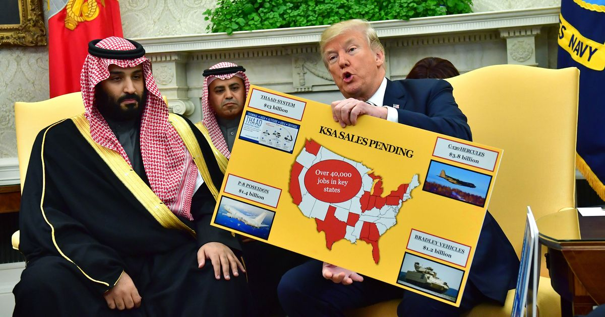 Trump Says Murders Shouldn't Stop Saudi Weapon Sales Because 'We Have Jobs'
