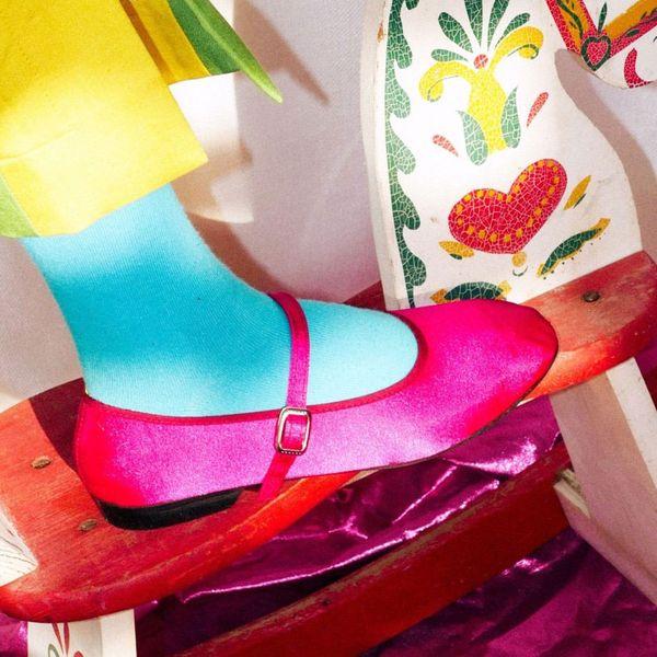 100% Silk Shop Satin Mary Jane Theater Shoe