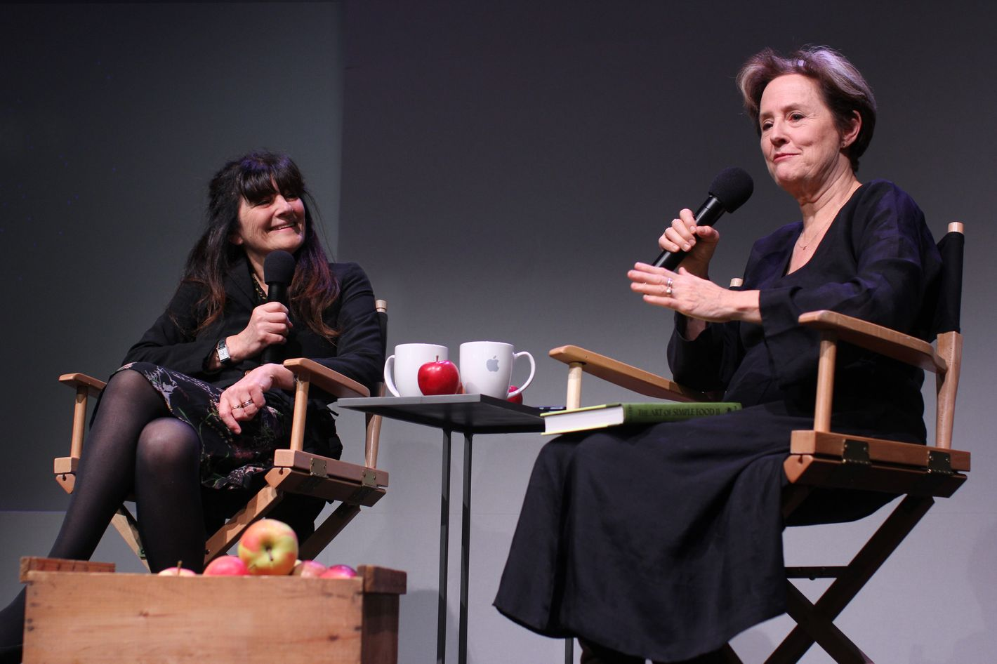 Of course Alice Waters brought Greenmarket apples to her Apple store event.