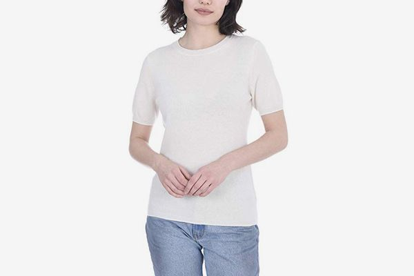 Cashmeren Short Sleeve Crewneck Sweater Top