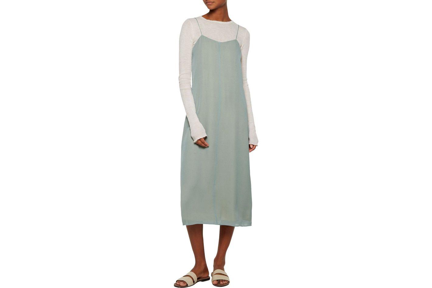 T by Alexander Wang silk-georgette midi-dress