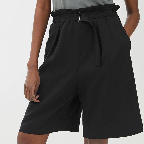ARKET Belted Lyocell Shorts