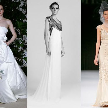 New bridal looks from Carolina Herrera, Temperley, and Badgley Mischka.