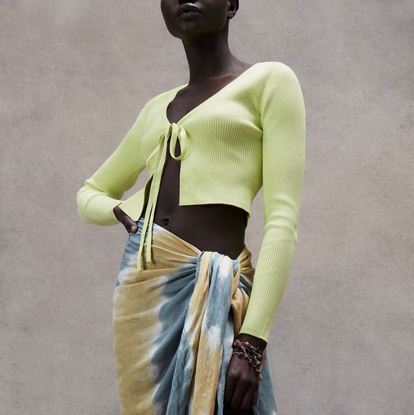 Zara Knit Cardigan with Bow