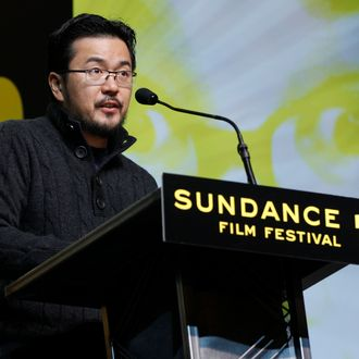 Director Justin Lin presents the Grand Jury Prize U.S. Dramatic during the 2012 Sundance Film Festival Awards Ceremony in Park City, Utah on Saturday, Jan. 28, 2012. (AP Photo/Danny Moloshok)