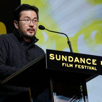 Director Justin Lin presents the Grand Jury Prize U.S. Dramatic during the 2012 Sundance Film Festival Awards Ceremony in Park City, Utah on Saturday, Jan. 28, 2012. (AP Photo/Danny Moloshok)