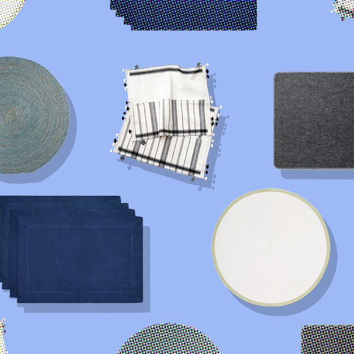 Sick of all the same old Ikea plates and forks and knives you've been using forever? Make things new again with some colorful designer placemats.