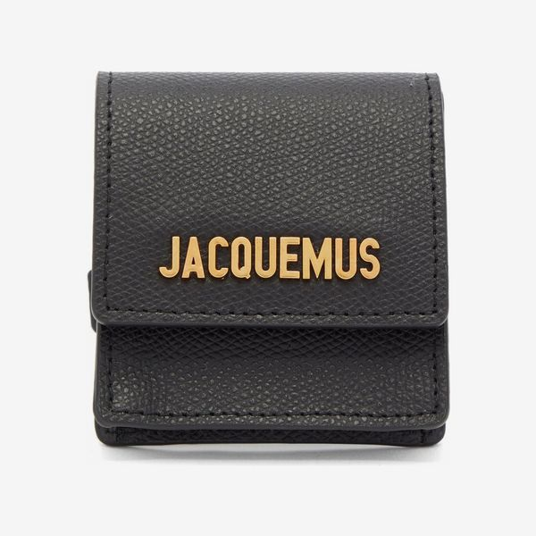 Jacquemus grained leather coin-purse bracelet