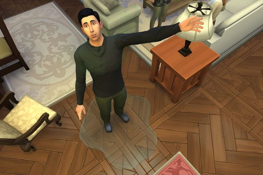 Image result for sims livin large peeing on floor