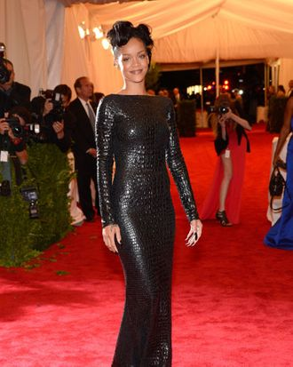 Rihanna at the Met Gala.