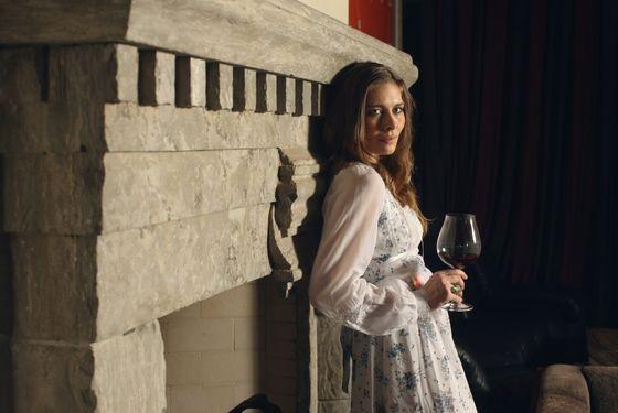 Fulton, in one of her many Gunne Sax dresses.