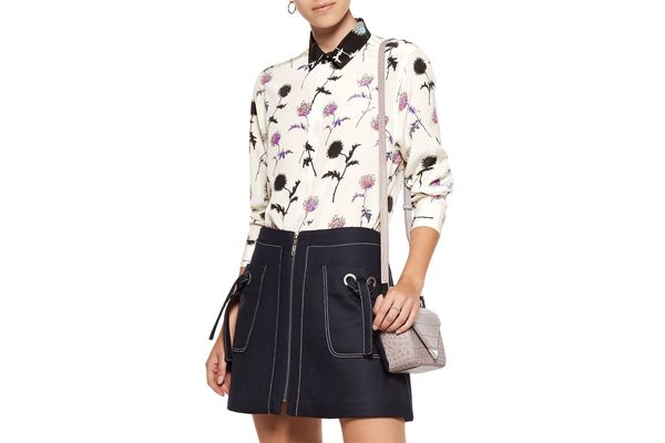 Kenzo Floral-print Silk-satin Shirt