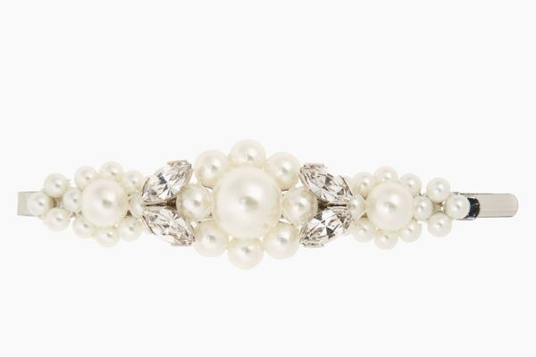 Simone Rocha Large Imitation Pearl & Crystal Hair Clip