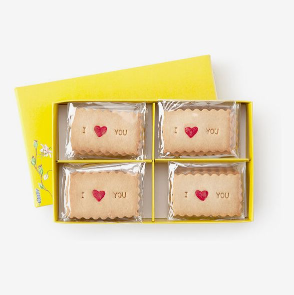 Love Message Shortbread Cookies