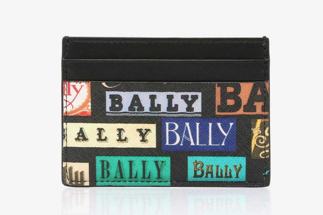 Bally Logo Calfskin Card Case