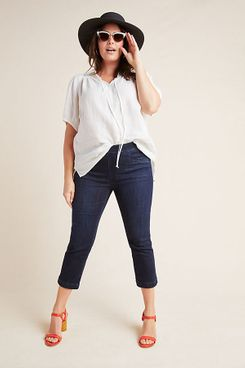 Pilcro High-Rise Capri Denim Leggings