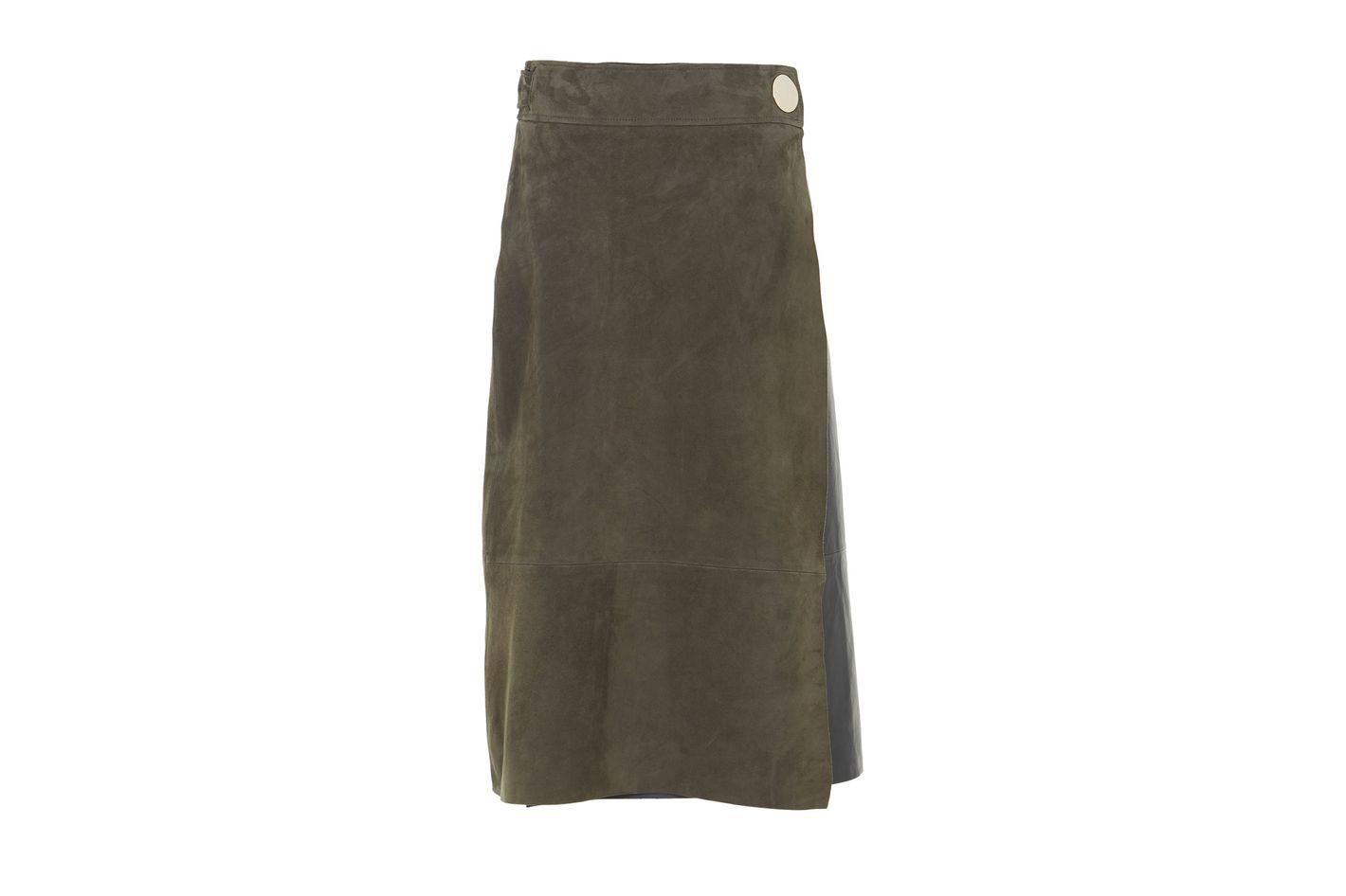 Tibi Suede Skirt