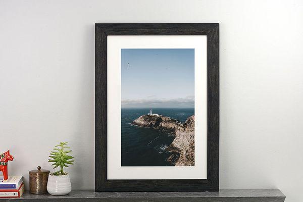 Level Frames Weathered Black Custom-Framed Photo