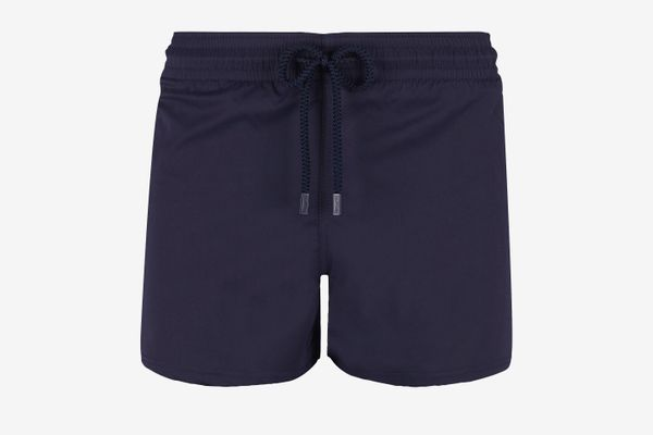 Vilebrequin Swim Trunks Short and Fitted Stretch Solid