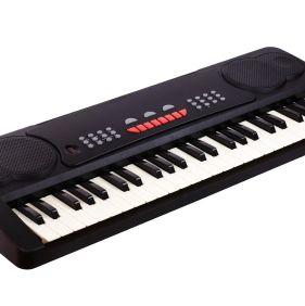 Digital midi keyboard isolated on white.