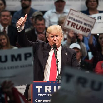 Donald Trump Holds Campaign Rally In North Carolina