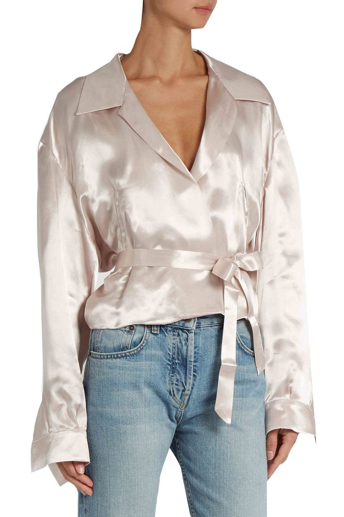 This Attico Satin Blouse Can Be Worn a Million Ways