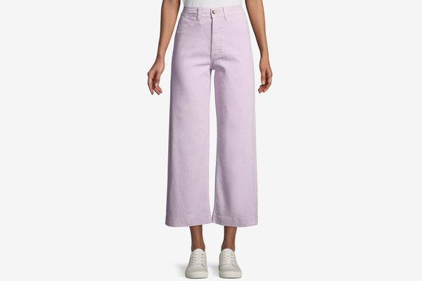 M.i.h Caron High-Rise Cropped Wide Leg Pants in Pink