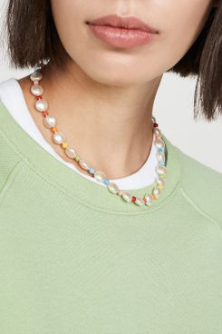 Roxanne Assoulin Pancake Imitation Pearl Necklace