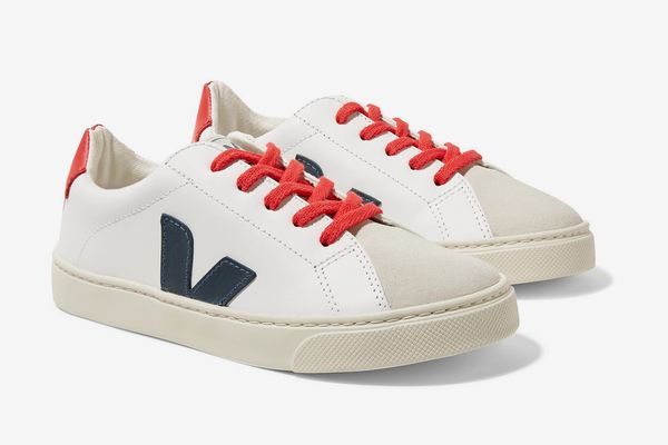 Veja Kids Esplar Leather and Suede Sneakers