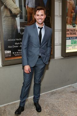 "Actor Andrew Rannells attends the ""The Assembled Parties"" opening night at Samuel J. Friedman Theatre on April 17, 2013 in New York City."