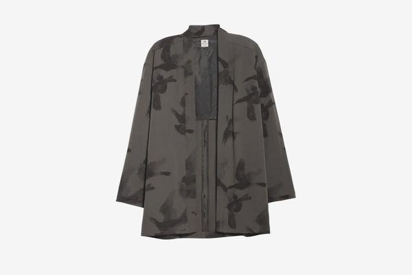 SASQUATCHFABRIX Crow Print Wool Haori Jacket