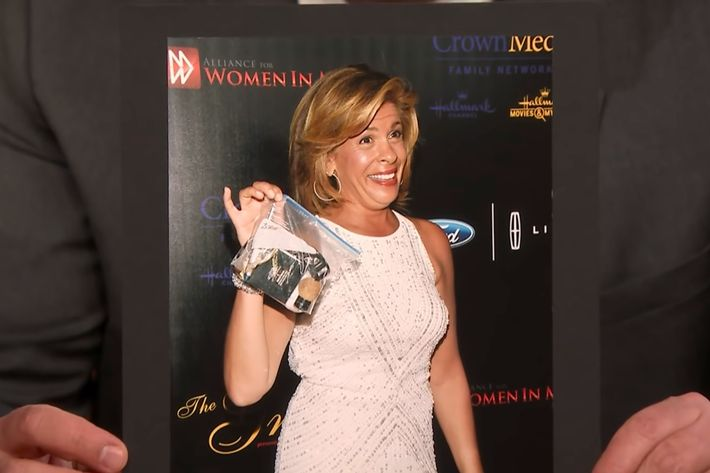 Hoda Kotb and her Ziploc bag purse.
